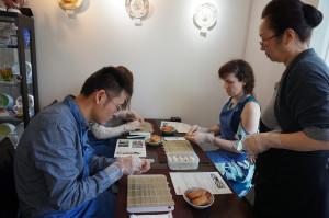 稲荷寿司と巻き寿司作り。