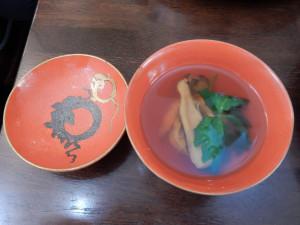 江戸時代の器に松茸。