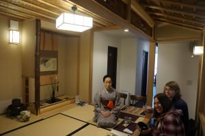 当店瑜伽庵の凝った天井も。