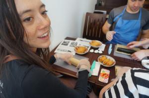 巻寿司作りの体験も