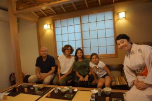 6月のご家族と敦子