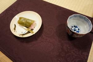 当日は桜餅でした。